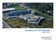 Q1 2013 Results Presentation - Investor relations at Amadeus