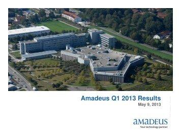 Q1 2013 Results Presentation - Investor relations at Amadeus