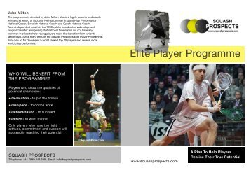 Download a PDF on John Milton's Elite Player ... - Nuffield Health