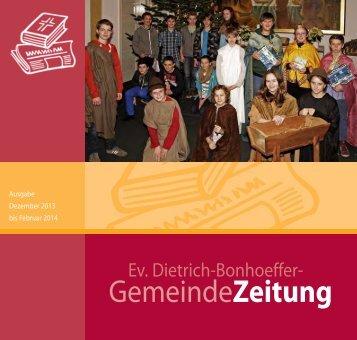 Dezember 2013 - dietrich-bonhoeffer-gemeinde.de