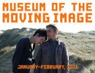 January-february, 2013 - Museum of the Moving Image