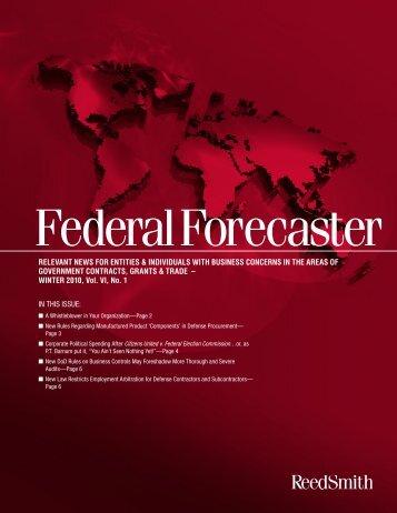 Federal Forecaster - Vol. VI, No. 1 - Reed Smith