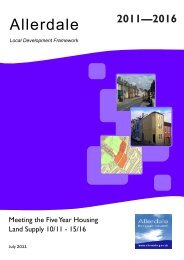 DRAFT - 5 year supply 2011-16 - Allerdale Borough Council