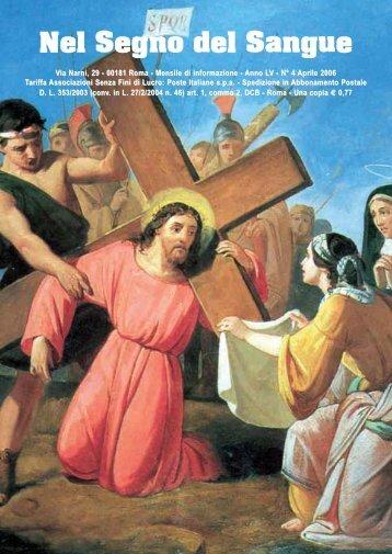 01 nel segno apr06 (Page 1) - Centro Studi Sanguis Christi