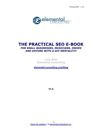 THE PRACTICAL SEO E-BOOK - A2IM