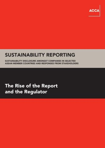 Sustainability Reporting - CSR Asia