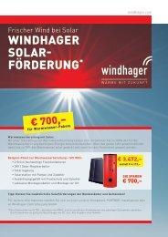 Windhager Solar- förderung*