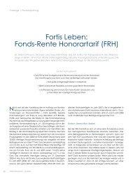 Fortis Leben: Fonds-Rente Honorartarif (FRH) - ITA