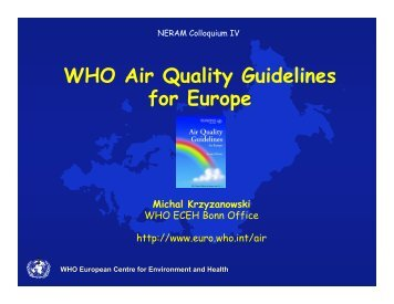 WHO Air Quality Guidelines for Europe - Irr-neram.ca