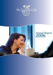 Annual Report 2006 - The Swedish Club