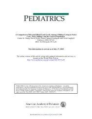 DOI: 10.1542/peds.107.5.e81 2001;107;81- Pediatrics Esther K ...
