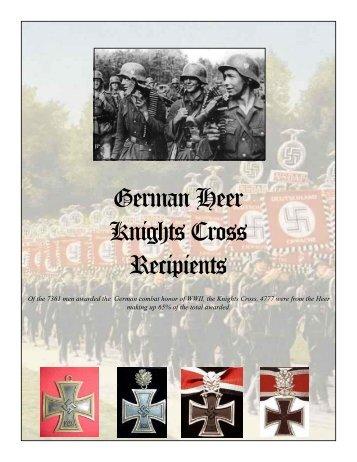 German Heer Knights Cross Recipients - Hotlinecy.com