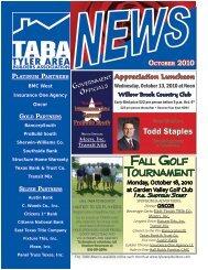 Fall GolF TournamenT - Tyler Area Builders Association