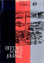 ISSUE 73 : Nov/Dec - 1988 - Australian Defence Force Journal