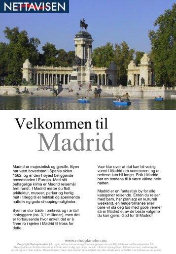 Madrid Reiseguide i samarbeid med www.reiseplaneten.no