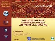 problématique des ressources en eau au maroc - emwis