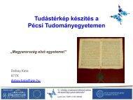Dobay Kata (PTE) előadása - ELTE Pályázati és Innovációs Központ