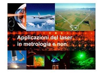 Applicazioni del laser in metrologia e non - inrim