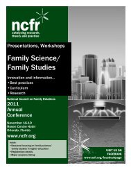 Family Science/ Family Studies - National Council on Family Relations