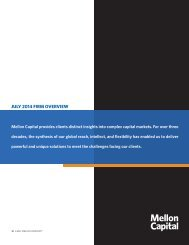 Our Firm Overview brochure - Mellon Capital Management