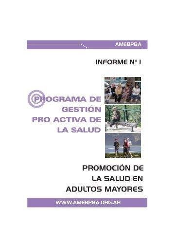 PROMOCIÓN DE LA SALUD EN ADULTOS MAYORES - AMEBPBA