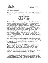 EBlast- Red Ribbon Parent Letter - Natick Public Schools