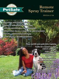 Remote Spray Trainer - Electric Dog Collars