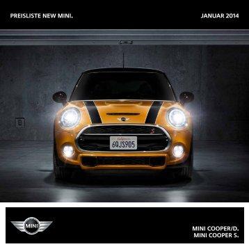 Preisliste New mini. Januar 2014 MINI COOPER/D. MINI ... - Mini.ch