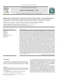 Multivariate classification of animal communication signals: A ...