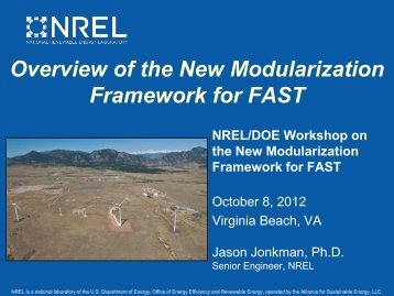 Overview of the New Modularization Framework for FAST - NREL