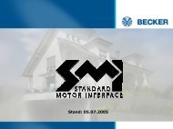 Stand: 05.07.2005 - Becker-Antriebe - Home