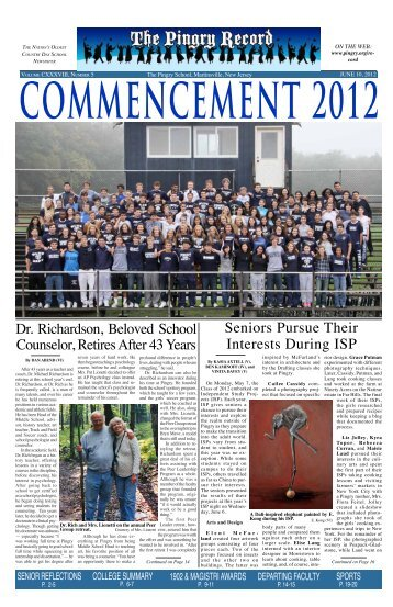 June 10, 2012 - Pingry School