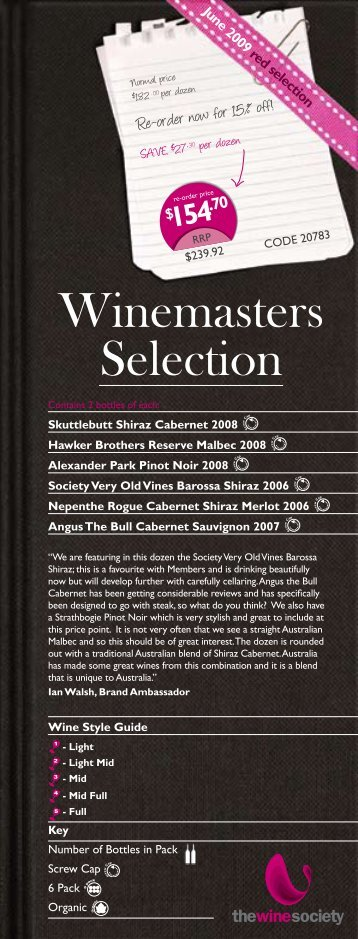 Winemasters Selection - The Wine Society