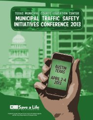 2013 Traffic Safety Initiatives Conference - Texas Municipal Courts ...