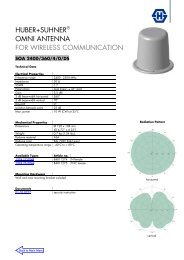 huber+suhner® omni antenna for wireless communication
