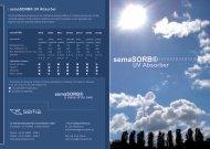 semaSORB® UV Absorber - se ma Gesellschaft für Innovationen mbH