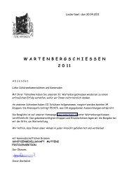 Rangliste Wartenbergschiessen 2011 - Pistolenklub Zwingen