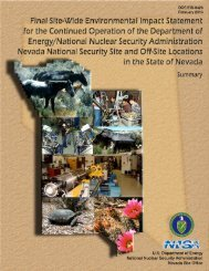 Summary - National Nuclear Security Administration - U.S. ...