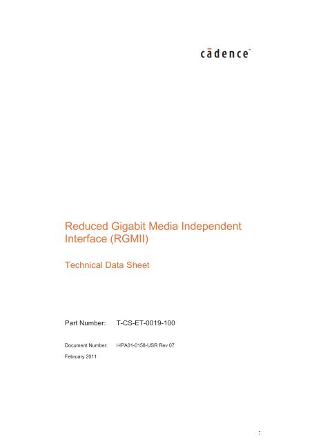 Reduced Gigabit Media Independent Interface (RGMII
