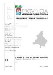 Il progetto di Piano per l'assetto idrogeologico - Provincia del ...