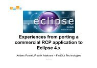 Experiences from porting a commercial RCP ... - EclipseCon