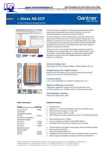 e.bloxx A6-2CF - INSTRUMENTATION DEVICES