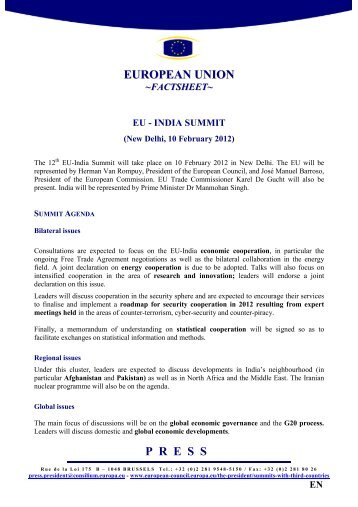 EU-INDIA SUMMIT - Factsheet - the European External Action ...