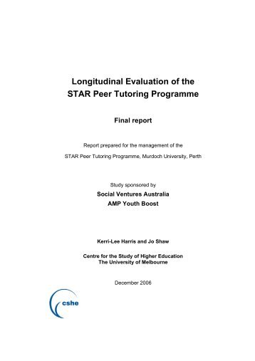 Longitudinal Evaluation of the STAR Peer Tutoring Programme