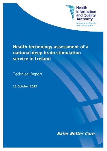 Read the Technical report - hiqa.ie