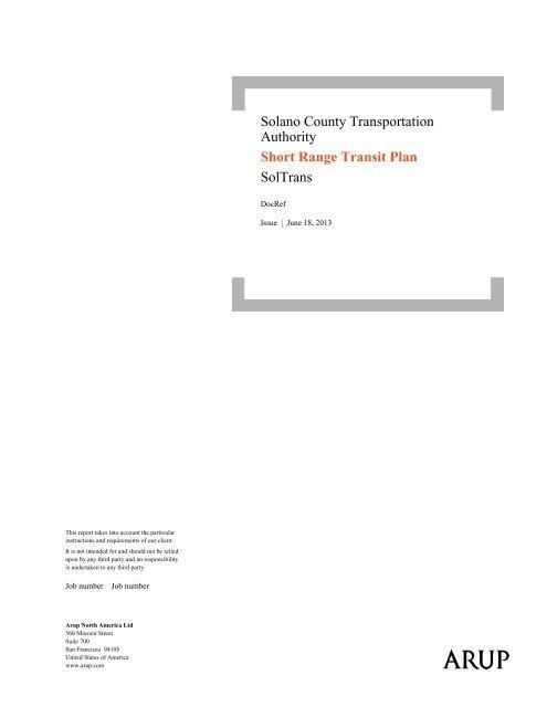 SolTrans Short Range Transit Plan