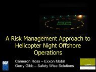 Risk Approach to Night Offshore Operations Presented by ... - ASASI
