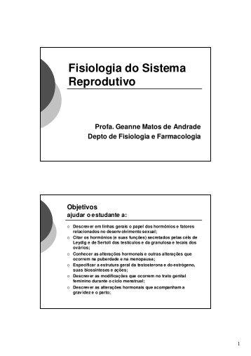 Fisiologia do Sistema Reprodutivo - Departamento de Fisiologia e ...