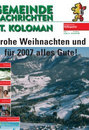 Gemeindezeitung Winter 2006 - St. Koloman