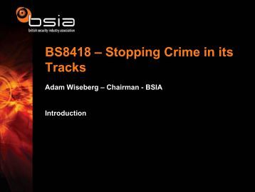 BS8418 - British Security Industry Association